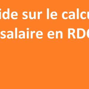 calcul du salaire en rdc
